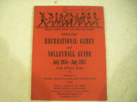 Girls and Women Recreational Games and Volleyball Guide 1955 Rules 67M
