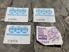 Vintage Milwaukee County Transit System Bus Tickets