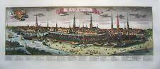 Hamburg - Großes Panorama nach Probst - Faksimile-Kupferstich handkoloriert