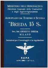 BREDA 15S (Fiat A50) 1931 AIRCRAFT REGIA AERONAUTICA FLIGHT MANUAL - DVD