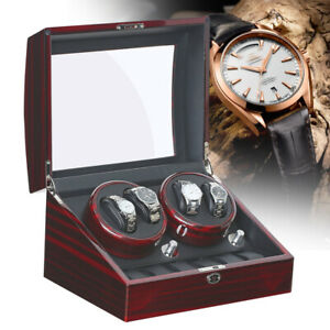 Automatic 4 + 6 watch winder Super Silent Motor Watch Case display 5 modes NEW
