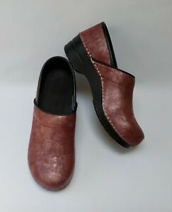 Sanita Shoes Clogs Metallic Pearl Pink Danish Design Signature US 10.5-11 EU 42