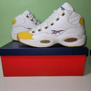 Reebok Question Mid Yellow Toe Laker Kobe PE   Authentic   Size 13