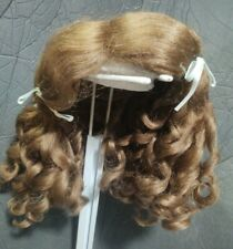SIZE 9  DOLL WIG LIGHT BROWN SUZANNE ANTIQUE MODERN  SYNTHETIC MOHAIR SALE!