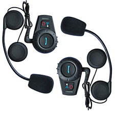 2x BT Motorcycle Bluetooth Helmet Intercom Headset 3Riders Communication 500m FM