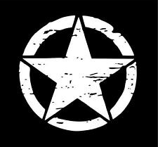 Distressed Car Door Stars Military Army Hard Hat Decals Stickers Waterproof