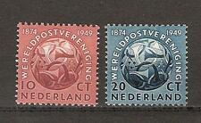 NVPH Netherlands Nederland 542 - 543 MNH PF 1949 75 jaar Wereldpostvereniging