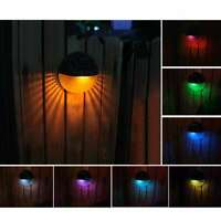 Solar LED Wandleuchte Solarleuchte Wandlampe Außenlampe Bunt Wasserdicht Neu DE