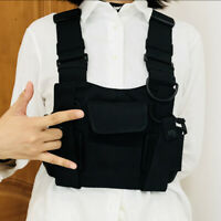 Radio Chest Harness Chest Front Pack Pouch Holster Vest Rig for Walkie Talkie