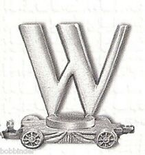 PEWTER LETTER W CAR FORT GIFT LASTING EXPRESSIONS x