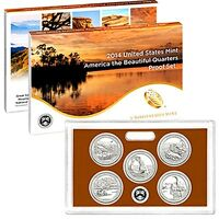 2014 S America the Beautiful National Parks ~ Mint Clad Proof Set with Box & COA
