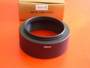 New! Metal Standard 49mm Screw-in Lens Hood