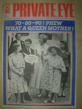 PRIVATE EYE MAGAZINE No 747 AUGUST 3 1990 QUEEN MOTHER AT 90