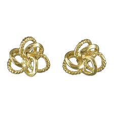 Gold earrings italian wookmark studs 8mm