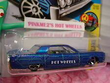 '64 LINCOLN CONTINENTAL #110 US✰Blue; oh5; W✰HW Art Cars✰2017 Hot Wheels Case F