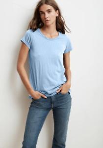 VELVET Tressa City Cotton Slub T-Shirt In Ice Size XS NEW RRP £65.00