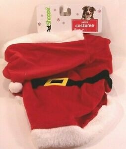 Santa Holiday Costume for Dogs Size M/L (20-35 lbs) Hat & Body Cover NIP
