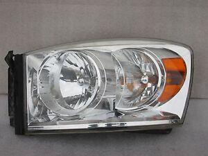2007 2008 Dodge Pickup RAM 1500 R2500 Left Headlight Front Lamp OEM 07 08