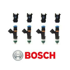 GENUINE Bosch 0280158117 550cc 52lb EV14 Fuel Injectors + Adapters (4)