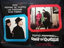 FOTOBUSTA CINEMA - TOTÒ, PEPPINO E UNA DI QUELLE - TOTÒ - 1953 - DRAMMATICO -08