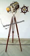 INDUSTRIAL VINTAGE COLLECTIBLE SPOT LIGHT HOLLYWOOD FLOOR LAMP STAND TRIPOD GIFT