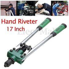 1/4 Inch Heavy Duty Hand Riveter Tool Threaded Pop Gun Rivet Nut Long Arm 17inch