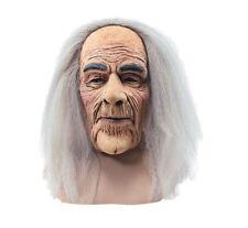 old man grey hair wig mask grandpa grandad halloween fancy dress