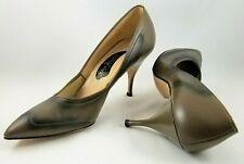 Vintage Brown Stilettos 60s Burlesque Rockabilly Pin Up Bettie Siren Nos Vlv