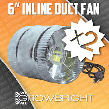 """2 pcs 6"""" INLINE DUCT FAN EXAUST BOOSTER BLOWER 250cfm AIR COOL BOOST Six Inch x2"""