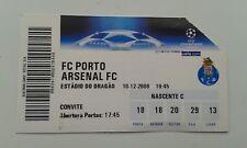 Billete de la Liga de Campeones 2008-9 Porto Arsenal estadio Dragao