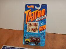 1992 HOT WHEELS TATTOO MACHINES OPEN WIDE, #3490, NOS