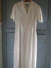 New Topshop Vintage 90s Off White Cream Long A Line Maxi Dress UK 10 EUR 36
