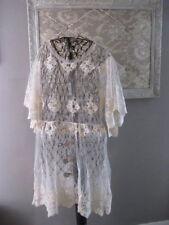 Romantisches kurzes Spitzenkleid, Kleid Tunika Farbe creme weiß Gr. 38/40   G171