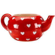 Outdoor Polyresin Garden Heart Teapot Pot Planter Garden Style Hand Painted