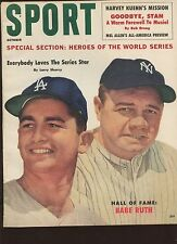 October 1960 Sport Magazine With Babe Ruth New York Yankees Cover EX+