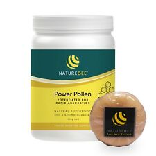 NatureBee Potentiated Power Pollen (200 caps) Partner Pack Free 1 Soap