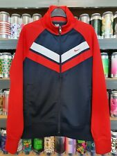 ❗📷 Nike Mens Medium Tracksuit Jacket Track Top Retro Blue Red Beautiful