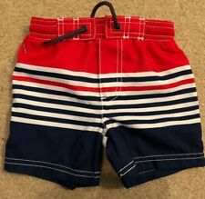 Carters Toddler Boy 18 Months Red White And Blue Trunks Stripes New With Tags