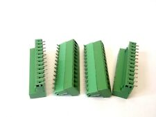 Lot of (4) Phoenix Contact MSTTB 2.5 12 Slot Green Terminal Connector