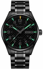 Men'S Sapphire Glass Stainless Date Waterproof Luminous Tritium Military Watch