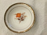 "Vintage Lamode China 6 1/4"" Coupe Cereal Bowl 22K Gold Gild Edge, 1940's USA"