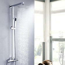 Duschset Regendusche Brause Set Duschsäule Duscharmatur Thermostat NEU