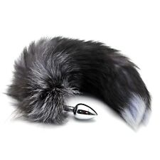 Stainless Steel Faux Fox Tail Toy Stopper Gift Gags & Practical Jokes Toy Tail