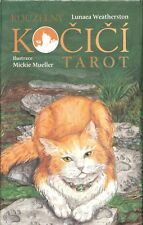 Kouzelny Kocici -Mystical Cats Tarot deck with gilded edges, CZECH EDITION, new!