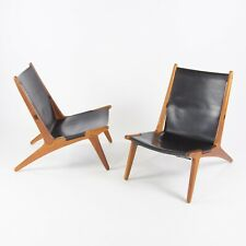 Pair Uno & Östen Kristiansson Hunting Chair for Luxus Sweden 1954 Wegner Danish