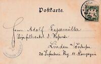 Ansichtskarte München Lucaskirche aus dem Jahr 1900 verschickt nach Lindau