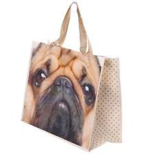 Pug Dog Cute Folding Reusable Shopping/Grocery Bag - Non Woven Tote Shopper Bag