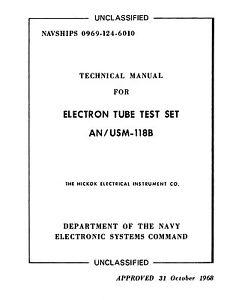 Hickok Cardmatic 118B Manual 15874-L1