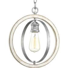 Progress Lighting Conestee Collection 1-Light Galvanized Pendant P500092-141