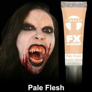 Tinsley Transfers FX Halloween Water Based Cream Face Makeup Body Paint, Pale